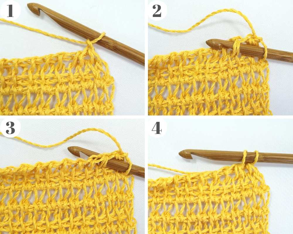 How to crochet on a Tunisian crochet decrease on the right side