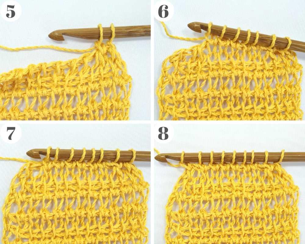 How to crochet on a Tunisian crochet decrease on the left side