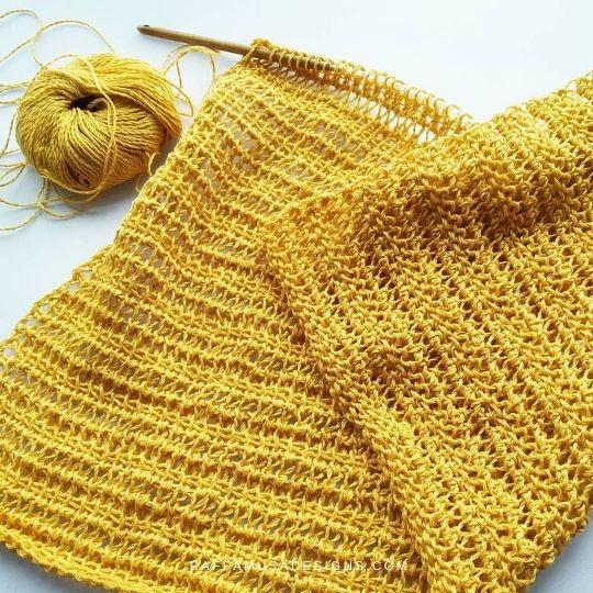 Tunisian Crochet Summer Top - Stitch Pattern - Raffamusa Designs