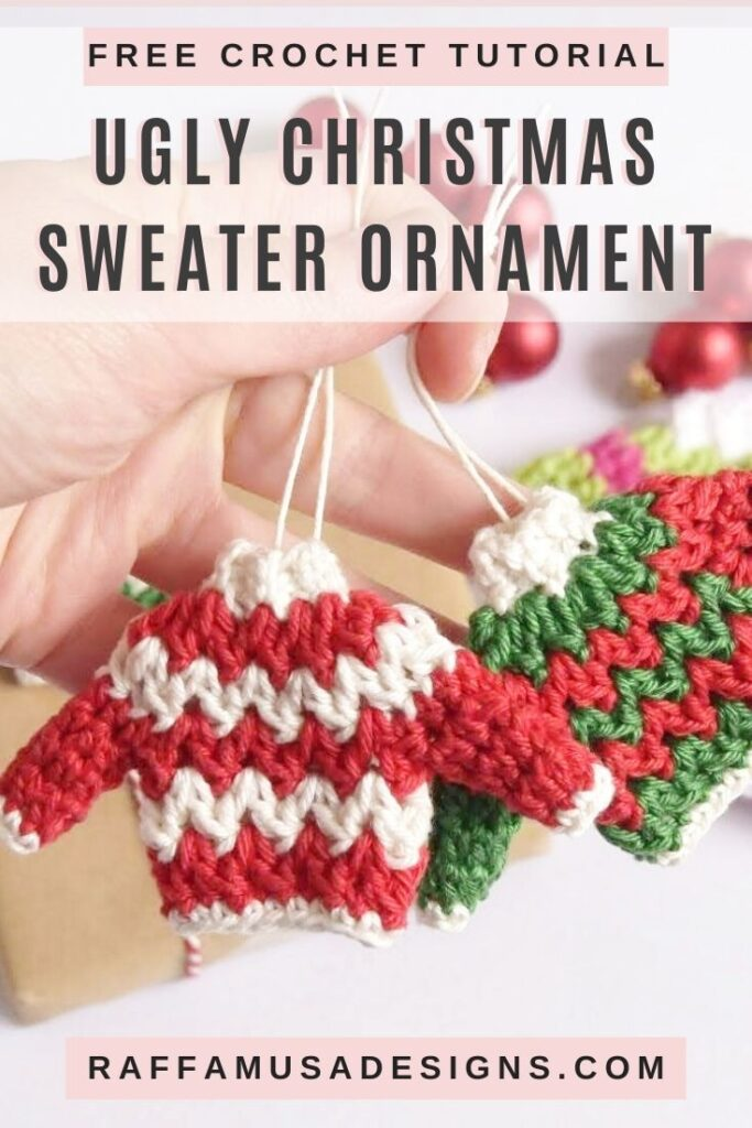 Ugly Christmas Sweater Ornaments - Free Crochet Pattern
