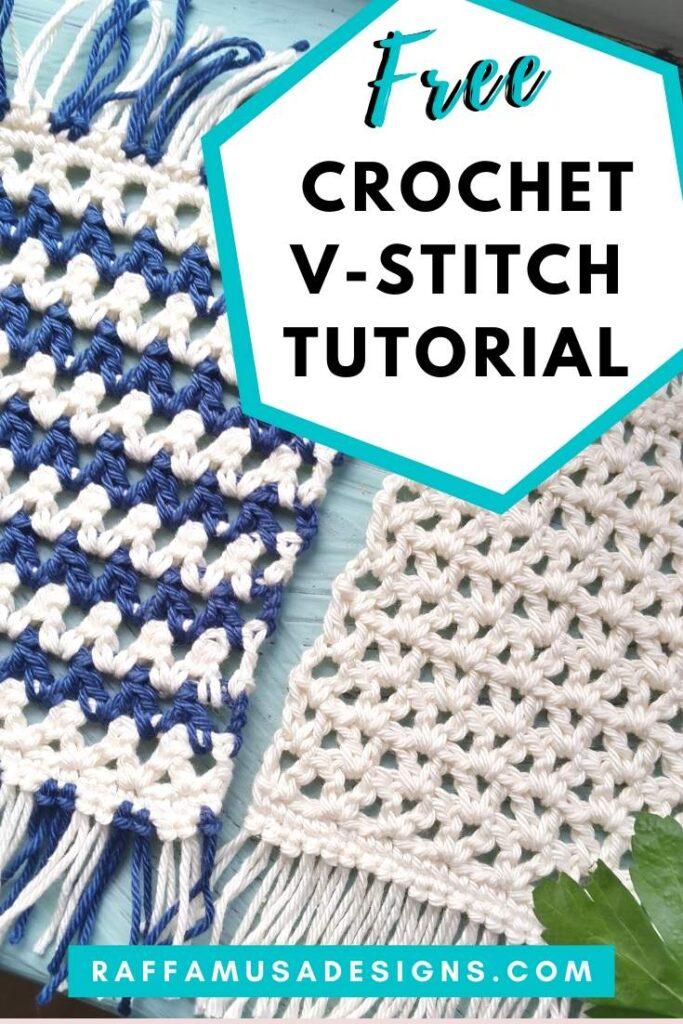Crochet V-Stitch Free Tutorial