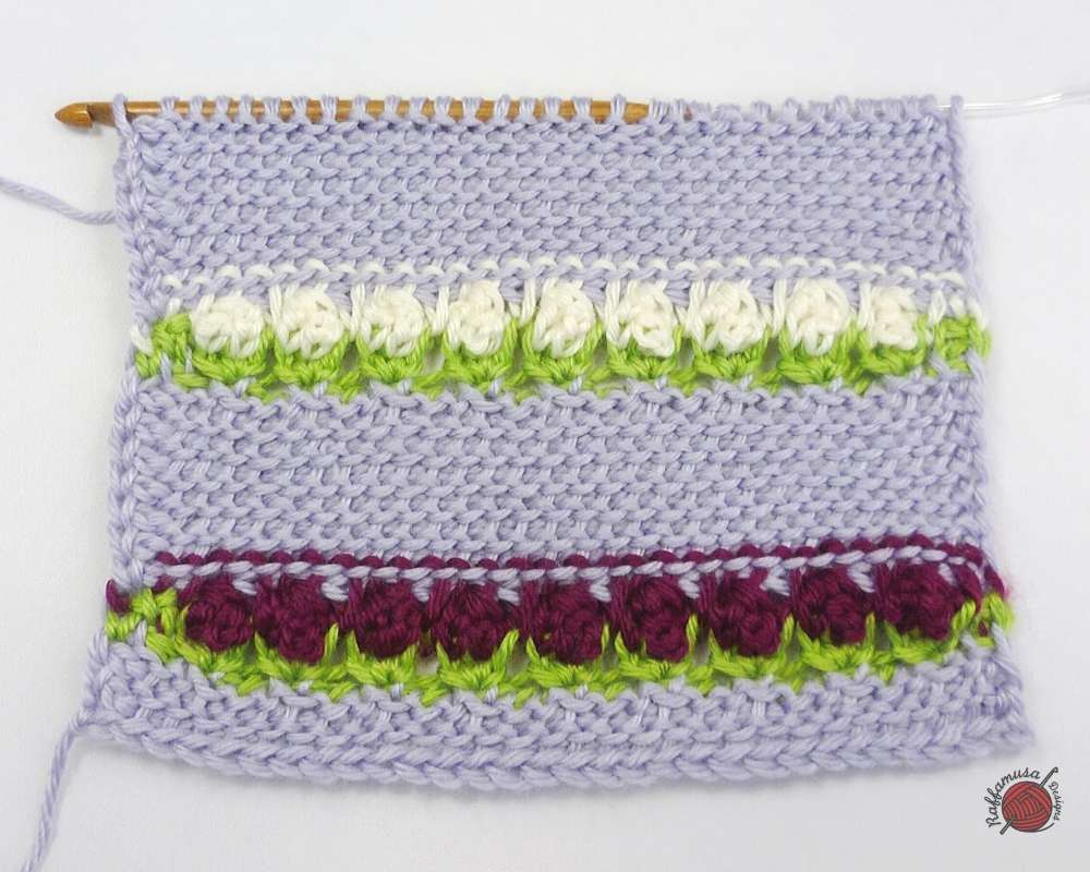 Starting point for our Tunisian Wild Flowers Stitch Tutorial